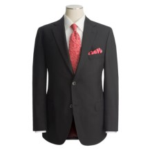 Jack Victor Hopsack Blazer - Wool (For Men) in Black - Closeouts
