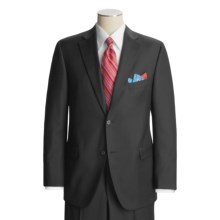 Jack Victor Loro Piana Suit - Worsted Wool (For Men) in Black - Closeouts