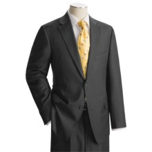 Jack Victor Loro Piana Suit - Worsted Wool (For Men) in Charcoal - Closeouts