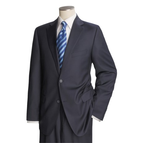 Jack Victor Loro Piana Suit - Worsted Wool (For Men) in Black