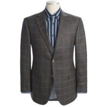 Jack Victor Loro Piana Windowpane Sport Coat - Wool (For Men) in Brown - Closeouts
