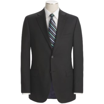 Jack Victor Loro Piana Wool Suit (For Men) in Black