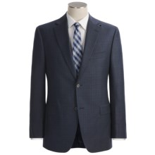 Jack Victor Loro Piana Wool Suit - Plaid (For Men) in Navy - Closeouts