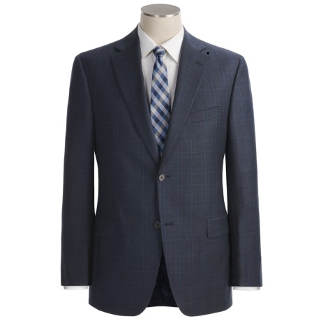 Jack Victor Loro Piana Wool Suit - Plaid (For Men) in Navy