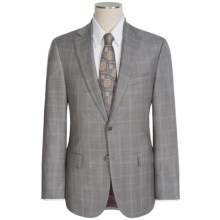 Jack Victor Napoli CT Plaid Suit - Wool (For Men) in Light Grey - Closeouts