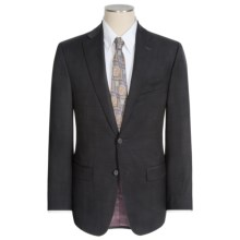 Jack Victor Napoli Tonal Windowpane Suit - Wool (For Men) in Charcoal - Closeouts