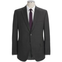 Jack Victor Plaid with Windowpane Suit - Wool (For Men) in Charcoal - Closeouts