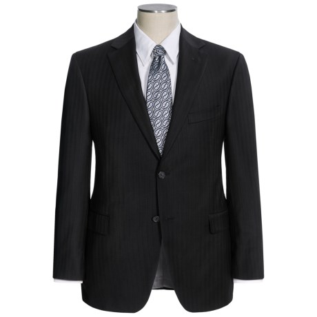 Jack Victor Shadow Stripe Suit - Wool (For Men) in Black