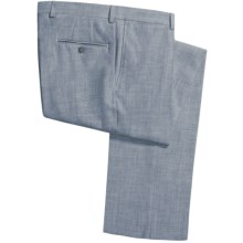Jack Victor Shantung Weave Pants (For Men) in Blue - Closeouts