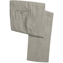 Jack Victor Shantung Weave Pants (For Men) in Green - Closeouts