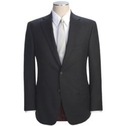 Jack Victor Slim Jim Stripe Suit - Loro Piana Wool (For Men) in Black