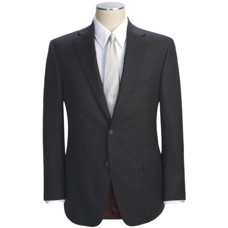 Jack Victor Slim Jim Stripe Suit - Loro Piana Wool (For Men) in Black