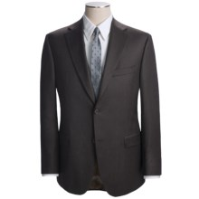 Jack Victor Slim Jim Stripe Suit - Loro Piana Wool (For Men) in Dark Brown - Closeouts