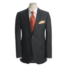 Jack Victor Slim Jim Stripe Suit - Wool (For Men) in Black - Closeouts