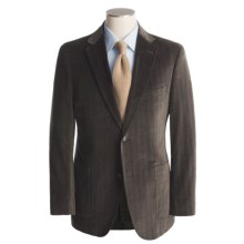 Jack Victor Soft Construction Chevron Sport Coat - Cotton (For Men) in Black/Brown - Closeouts