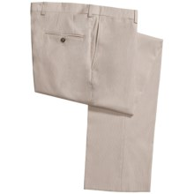 Jack Victor Stretch Pinfeather Pants - Flat Front (For Men) in Beige - Closeouts