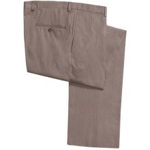 Jack Victor Stretch Pinfeather Pants - Flat Front (For Men) in Brown - Closeouts
