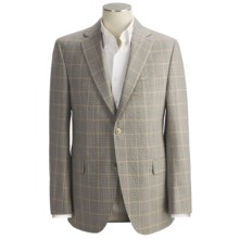 Jack Victor Tic Weave Sport Coat - Windowpane Overlay, Wool (For Men) in Tan/Rust - Closeouts