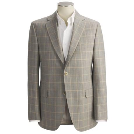 Jack Victor Tic Weave Sport Coat - Windowpane Overlay, Wool (For Men) in Tan/Rust