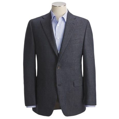 Jack Victor Tic Weave Sport Coat - Wool by Loro Piana (For Men) in Blue Multi