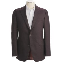 Jack Victor Tic Weave Sport Coat - Wool by Loro Piana (For Men) in Brown/Burgundy - Closeouts