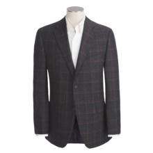 Jack Victor Tic Weave Sport Coat - Wool, Windowpane (For Men) in Black - Closeouts