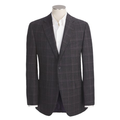 Jack Victor Tic Weave Sport Coat - Wool, Windowpane (For Men) in Black