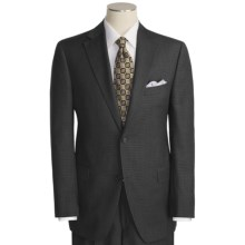 Jack Victor Tic Weave Suit - Wool (For Men) in Charcoal/Blue - Closeouts