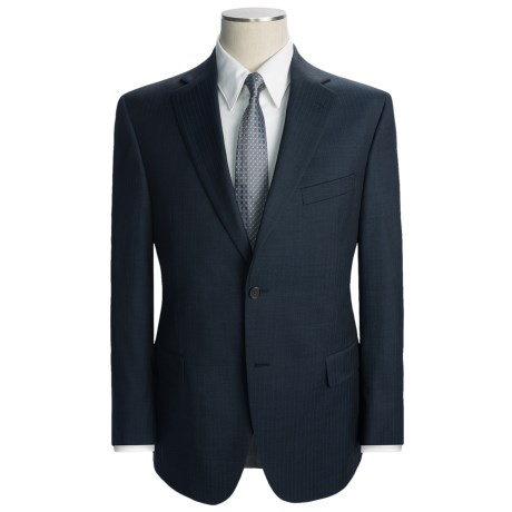 Jack Victor Tonal Stripe Suit - Wool (For Men) in Navy