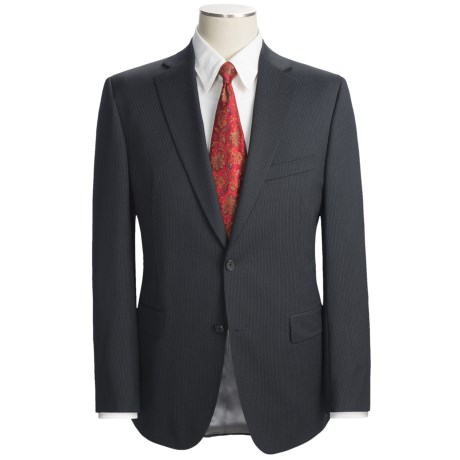 Jack Victor Trim Fit Track Stripe Suit - Wool (For Men) in Charcoal