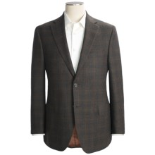 Jack Victor Windowpane Sport Coat - Wool (For Men) in Brown/Blue - Closeouts