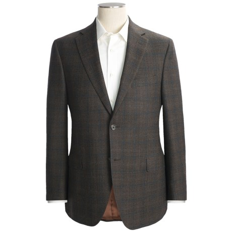 Jack Victor Windowpane Sport Coat - Wool (For Men) in Brown/Blue