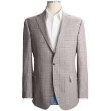 Jack Victor Windowpane Sport Coat - Wool-Silk (For Men) in Tan - Closeouts
