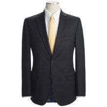 Jack Victor Wool Faint Stripe Suit - Trim Fit (For Men) in Black/Lavender - Closeouts