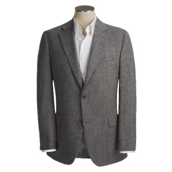 Jack Victor Wool Herringbone Sport Coat (For Men) in Black/White