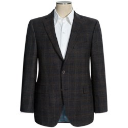 Jack Victor Wool Plaid Sport Coat - Classic Fit (For Men) in Brown