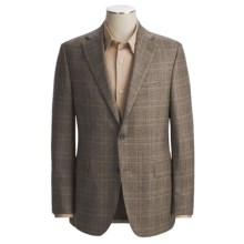 Jack Victor Wool Plaid Sport Coat - Fabric by Loro Piana (For Men) in Brown - Closeouts