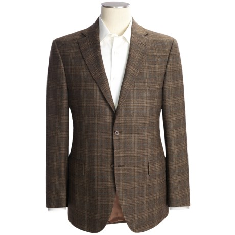 Jack Victor Wool Plaid Sport Coat (For Men) in Brown
