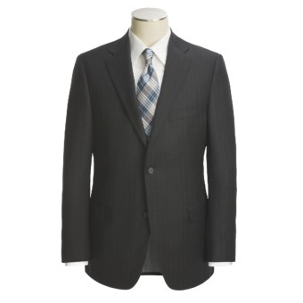 Jack Victor Wool Stripe Suit (For Men) in Charcoal
