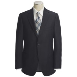 Jack Victor Wool Stripe Suit (For Men) in Dark Navy