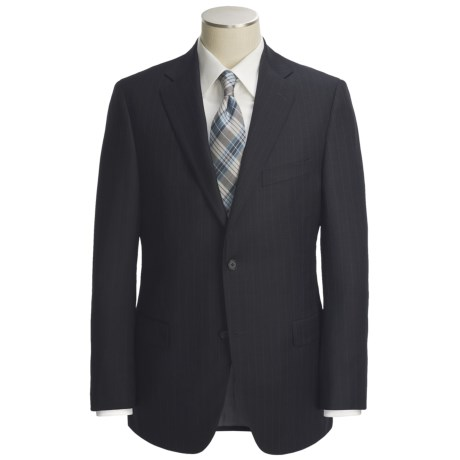 Jack Victor Wool Stripe Suit (For Men) in Black