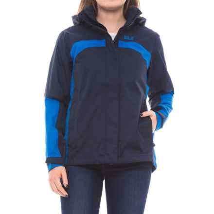 Jack Wolfskin Albit Hooded Jacket - Waterproof (For Women) in Night Blue - Closeouts