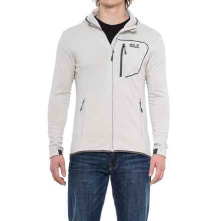 Jack Wolfskin Andean Plateau Polartec® Power Stretch® Fleece Jacket (For Men) in Grey Haze - Closeouts