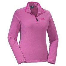 Jack Wolfskin Arco Pullover - Zip Neck, Long Sleeve (For Women) in Pink Passion Stripes - Closeouts