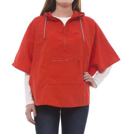 Jack Wolfskin Atacama Hooded Poncho - UPF 40+ (For Women) in Fiery Red - Closeouts