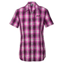 Jack Wolfskin Aurora Shirt - Short Sleeve (For Women) in Grapevine Checks - Closeouts