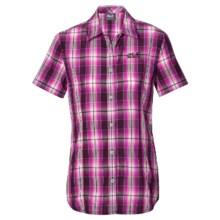 Jack Wolfskin Aurora Shirt - Short Sleeve (For Women) in Grapevine Checks - Closeouts