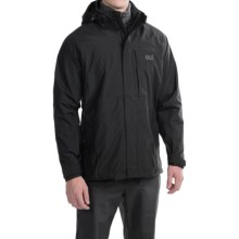 Jack Wolfskin Brooks Range Texapore Jacket - Waterproof (For Men) in Black - Closeouts