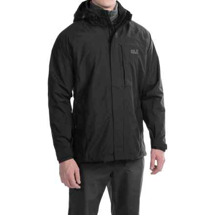 Jack Wolfskin Brooks Range Texapore Jacket - Waterproof (For Men) in Black - Closeouts