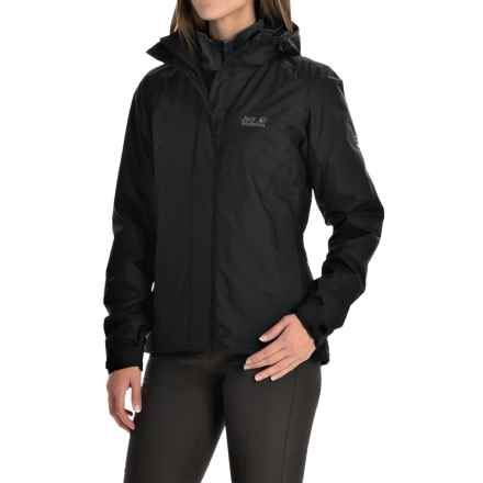Jack Wolfskin Campfire Jacket - Waterproof, Insulated (For Women) in Black - Closeouts